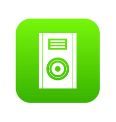 music speaker icon digital green vector image