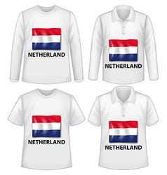 Netherland shirts vector image