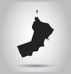 oman map black icon on white background vector image