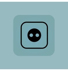 Pale blue socket icon vector