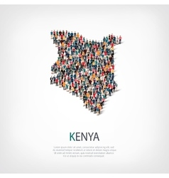 People map country Kenya vector