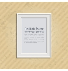Picture frame with text vector