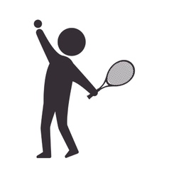 Player man tennis vector