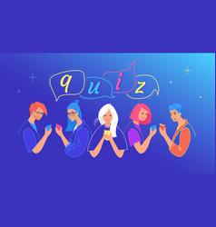 Quiz concept teenage boys vector