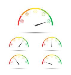 Rating customer satisfaction meter vector