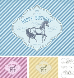 Retro birthday design vector
