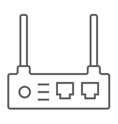 router thin line icon internet and connection vector image