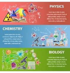Science Banner Set vector