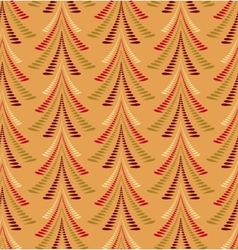 Seamless Christmas pattern Firs trees on orange vector image