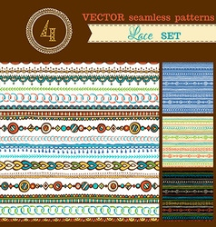 Set of seamless geometric patterns vector
