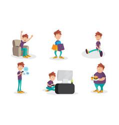Set with people bad habits isolated vector