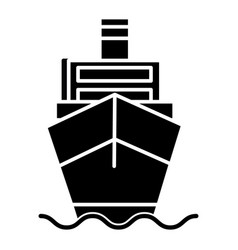 ship cargo front view logistics icon vector image