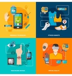 Smart technology set vector