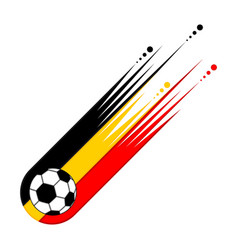 Soccer ball with the flag of belgium vector