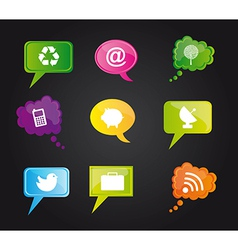 Social Media design elements vector