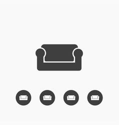 Sofa icon simple vector