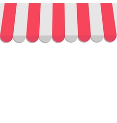 Striped store awning for shop marketplace cafe and vector