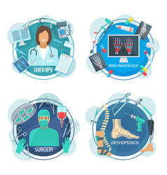 Surgery therapy and rheumatology medicine icon vector