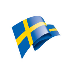 sweden flag on a white vector image