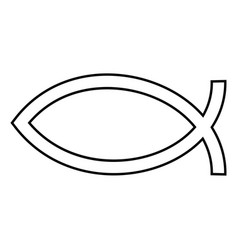 symbol fish icon black color flat style simple vector image