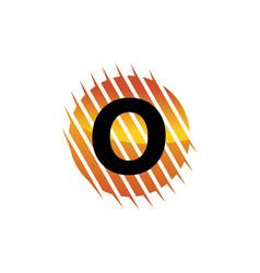 technology letter o vector image