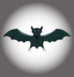 the bat on a gloomy gradient background vector image