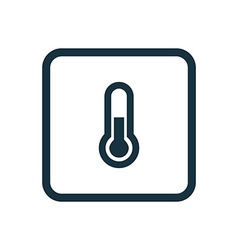 thermometer icon Rounded squares button vector image
