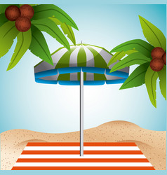 Tropical beach vacation image vector