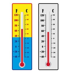 two thermometer vector image