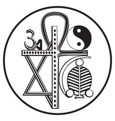 Universal religions symbol vector