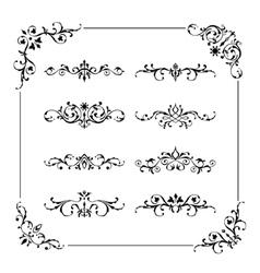 Vintage frame border divider corner vector image