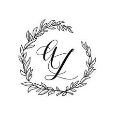 Wedding wreath element vector