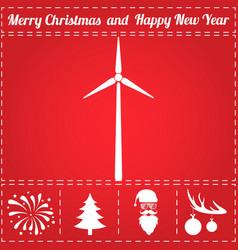 wind power icon vector image