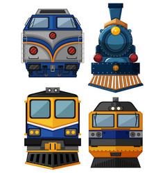 different types of trains vector image vector image