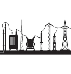 Electrical substation scene vector image