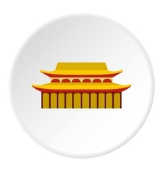 Sacred temple icon flat style vector image vector image