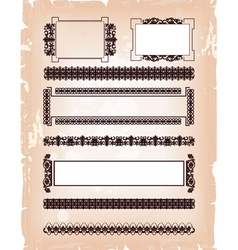 set of frame pattern vector image vector image