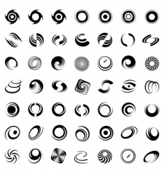 spiral movement and rotation vector image