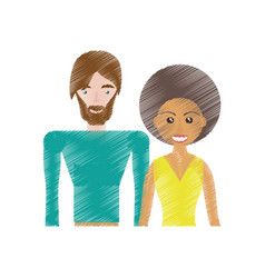 drawing couple relationship lovely vector image vector image