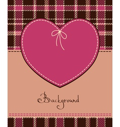 heart in textile style vector image