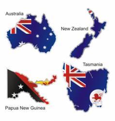 Oceania maps vector image vector image