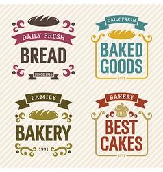 Retro Bakery Labels vector image vector image