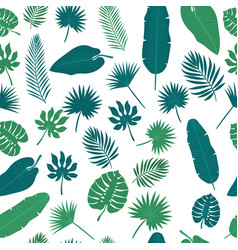 tropical leaves seamless pattern floral jungle vector image