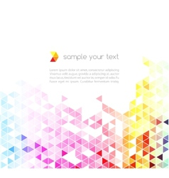 Abstract colorful triangles background vector image vector image