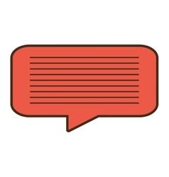 Cartoon bubble speech message dialogue vector