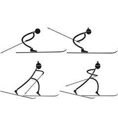 Cross country skiing vector