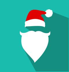 flat design santa claus face vector image