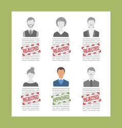 Human Resource and Resume Flat Simple Icons vector image