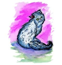 Persian Cat Sketch3 vector image