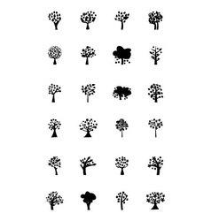 Trees Icons 5 vector image vector image